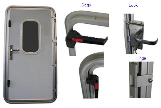Rectangular Portlight Boat Aluminum Steel Marine Windows , Fixed ...